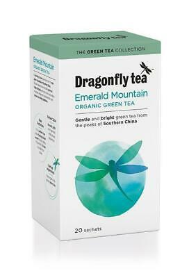 Dragonfly Natural Organic Emerald Mountain Sleeve Healthy Green Tea 20 Bags