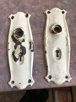 2 Vintage Original Heritage Door Handle Plates