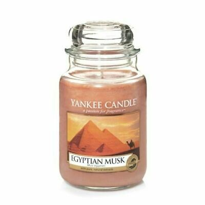 Yankee Candle Large Egyptian Musk RARE RETIRED Fragrance FREE ROYAL MAIL TRACKED