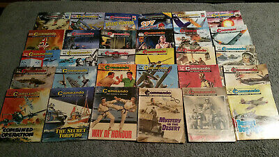 BULK LOT of 30 COMMANDO COMICS - War Stories in Pictures FREE POSTAGE 1199-4994