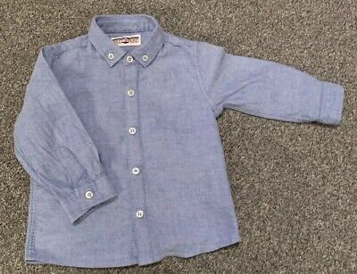 NEXT baby boy shirt 12-18 months. light Blue Button down. Used Perfect Condition