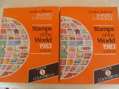 1983 Full Set Stanley Gibbons Stamps Of The World Simplified Catalogue A-Z 2-Vol