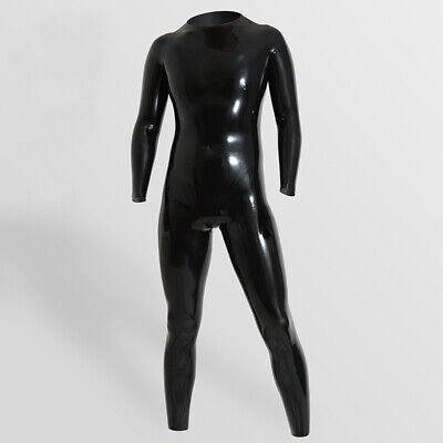 Unisex 0.25mm custom-made High Quality Latex Rubber Tights Siamese Catsuit Men