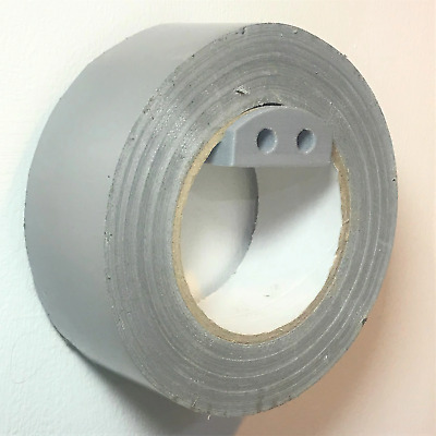 Wall Bracket Holder For Large Tape Roll Duct Gaffa Gaffer Tape In Grey