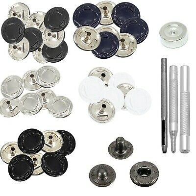 S Spring Snap Fastener Press Stud Buttons with Hand Fixing Tool for Leather Bags