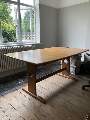 Ercol Dining Table And Six Chairs (extending Table)