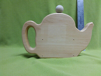 Unfinished wooden teapot planter