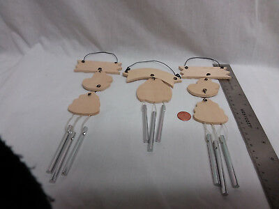 Unfinished wood bee hives windchimes- ready to finish