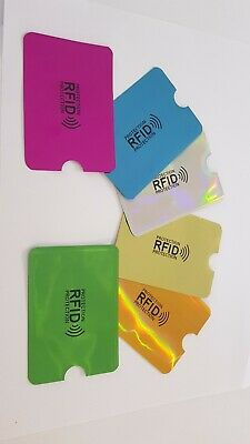 RFID Blocking Sleeve Secure Credit Card ID Protector Anti Scan Safety