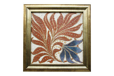A framed, antique Victorian Royal and Doulton Lambeth tile.