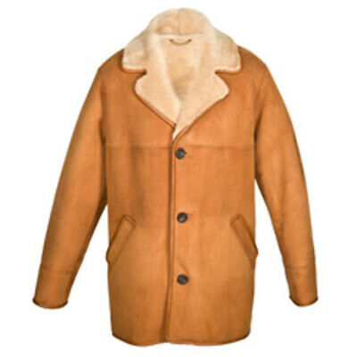BNWT Leather Sheepskin Aviator Style 'Edward' in Tan - Size 48''