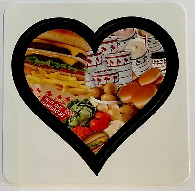 Exclusive In-N-Out Burger Sticker Heart Southern California