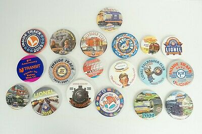 Lionel Train 19 Collector Buttons Various Club Buttons