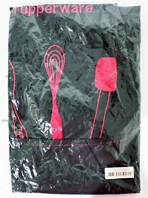 Tupperware Apron Pink and Black Embroidered Consultant Logo NIP