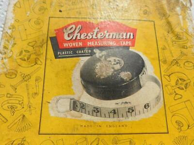 Vintage Chesterman 100 Ft. Tape Measure Made In Sheffield England, Original Box