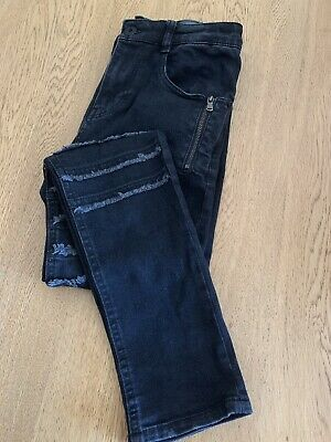 Zara Kids Boys Jeans Size 11/12 Years 152cm Black Skinny