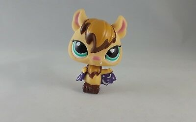 Littlest Pet Shop Tan Vampire Bat Purple Moon Stars Cape #1680