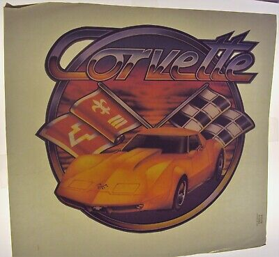 Chevrolet CORVETTE  Iron-on T-SHIRT Transfer Automobile SPORTS CAR Vette 1970's