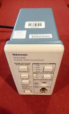 TEKTRONIX CURRENT PROBE /AMPLIFIER TCPA300 Calibrated 4/2/2019