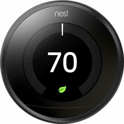 Used Google Nest Learning Thermostat (Black) -Works With the Google Assistant