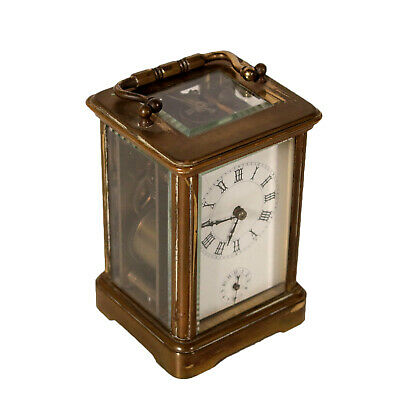 Gilded Bronze Carriage Clock France 19th Century