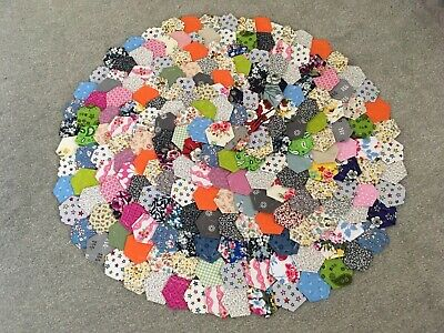 Beautiful Selection Of Ready Tacked  Small Patchwork Hexagons X 210  Brand New