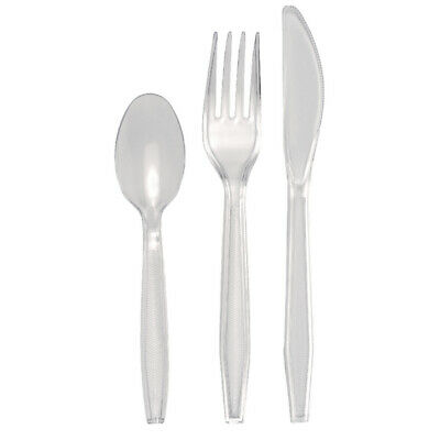 Fsmisc Plastic Cutlery 150 Piece Set Clear E02553