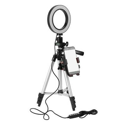 1 Pc Mini LED Selfie Ring Light with Tripod Stand Phone Stand for YouTube Video