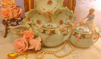 Stunning Antique RS Prussia Hand Painted  teapot set