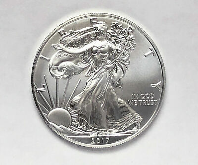 2017 American Silver Eagle 1 Troy Oz .999 Fine Silver Brilliant Uncirculated BU