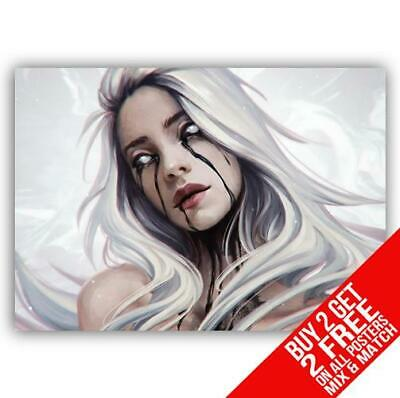 Billie Eilish Bb4 Poster Art Print A4 A3 Size - Buy 2 Get Any 2 Free