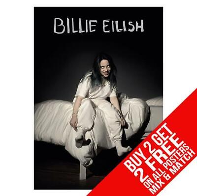 Billie Eilish Bb7 Poster Art Print A4 A3 Size - Buy 2 Get Any 2 Free