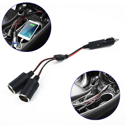 Pro Car Cigarette Lighter Extension Double Socket Extention Cable 2-Way Splitter