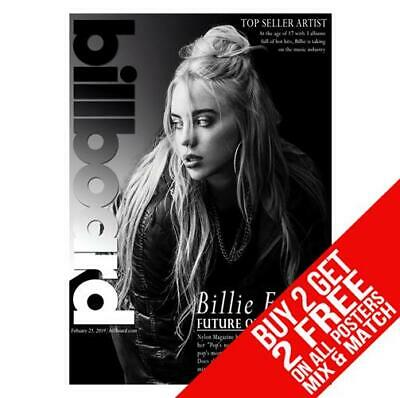 Billie Eilish Bb9 Poster Art Print A4 A3 Size - Buy 2 Get Any 2 Free