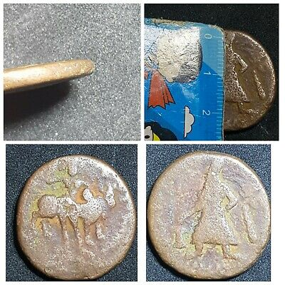 Ancient kushan copper coin