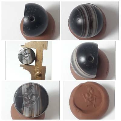 Very old sassanian  agate intaglio bead
