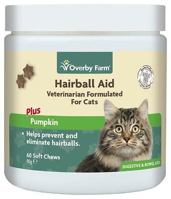 60pcs Hairball Aid For Cats, Soft Chew