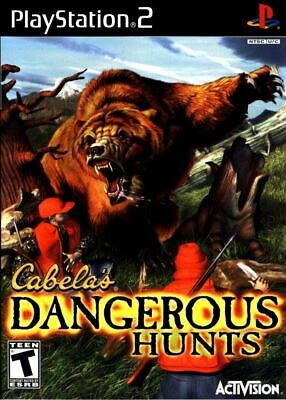 Cabela's Dangerous Hunts PlayStation 2 PS2 Game Complete *CLEAN VG
