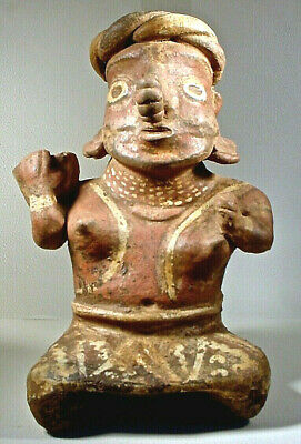 Pre-Columbian NAYARIT FEMALE WITH BOWL, EX: SOTHEBYS '78