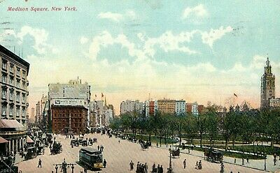 1908 Postcard Of Madison Square In New York City New York