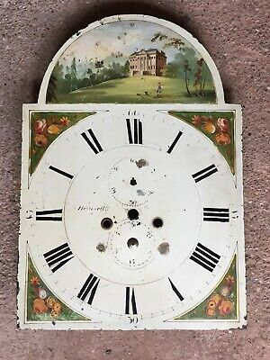 Antique 18th Or 19th Century 8 Day Longcase Grandfather Clock Dial