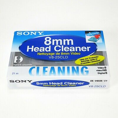 Sony V8-25CLD 8mm Video Head Cleaning Cassette for Video8, Hi8 & Digital 8 - New