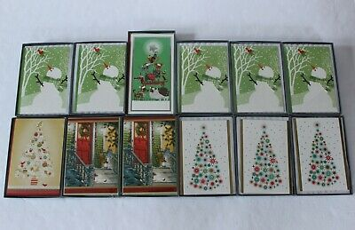 172 Count Hallmark Holiday Christmas Greeting Cards in 12 Boxes New