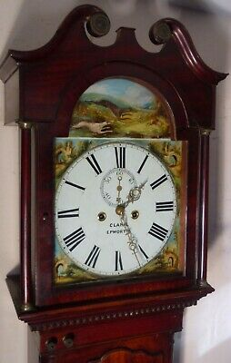 "Antique Mahogany Hunting Dial "" Epworth""  Longcase / Grandfather Clock"