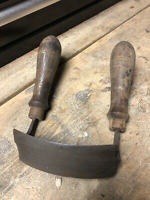 Antique Felled Draw Shave Knife – 5 IN Curved Draw Knife Curved Woodworking Tool