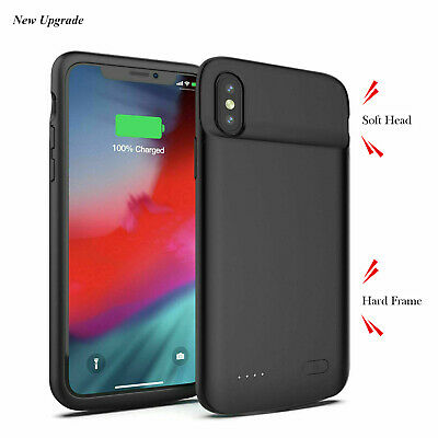 Slim Magneti Charger Case Backup Battery Cover Power Bank For iPhone X XR XS Max