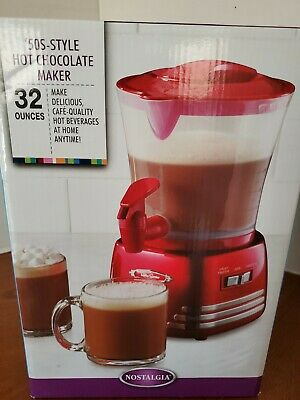 Nostalgia Electrics 50'S Style Hot Chocolate Maker -- Red -- 32 Oz. -- New