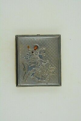 1880 Antique Silver Russian Icon St. George marked 84 ПК