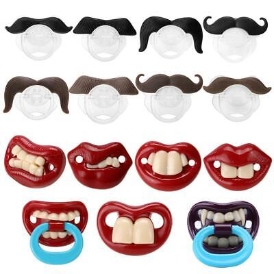 Orthodontic Baby Newborn Infant Funny Mustache Pacifier Binky Pacifiers funny