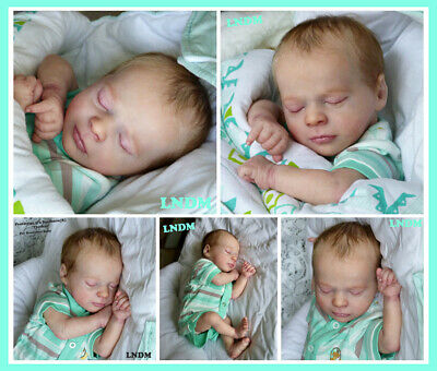 Realborn Doll Kit Thomas Asleep comes with COA  Body, plugs & Rings